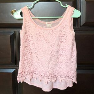 Lacy Flowered Tank Top